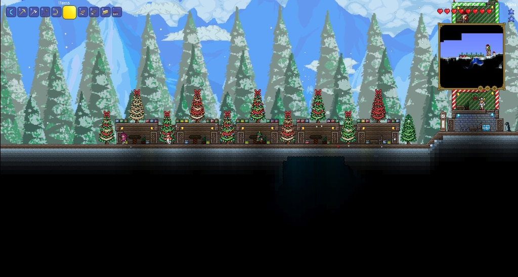 Terraria Christmas House.Steam Community Screenshot Terraria Christmas Atomic
