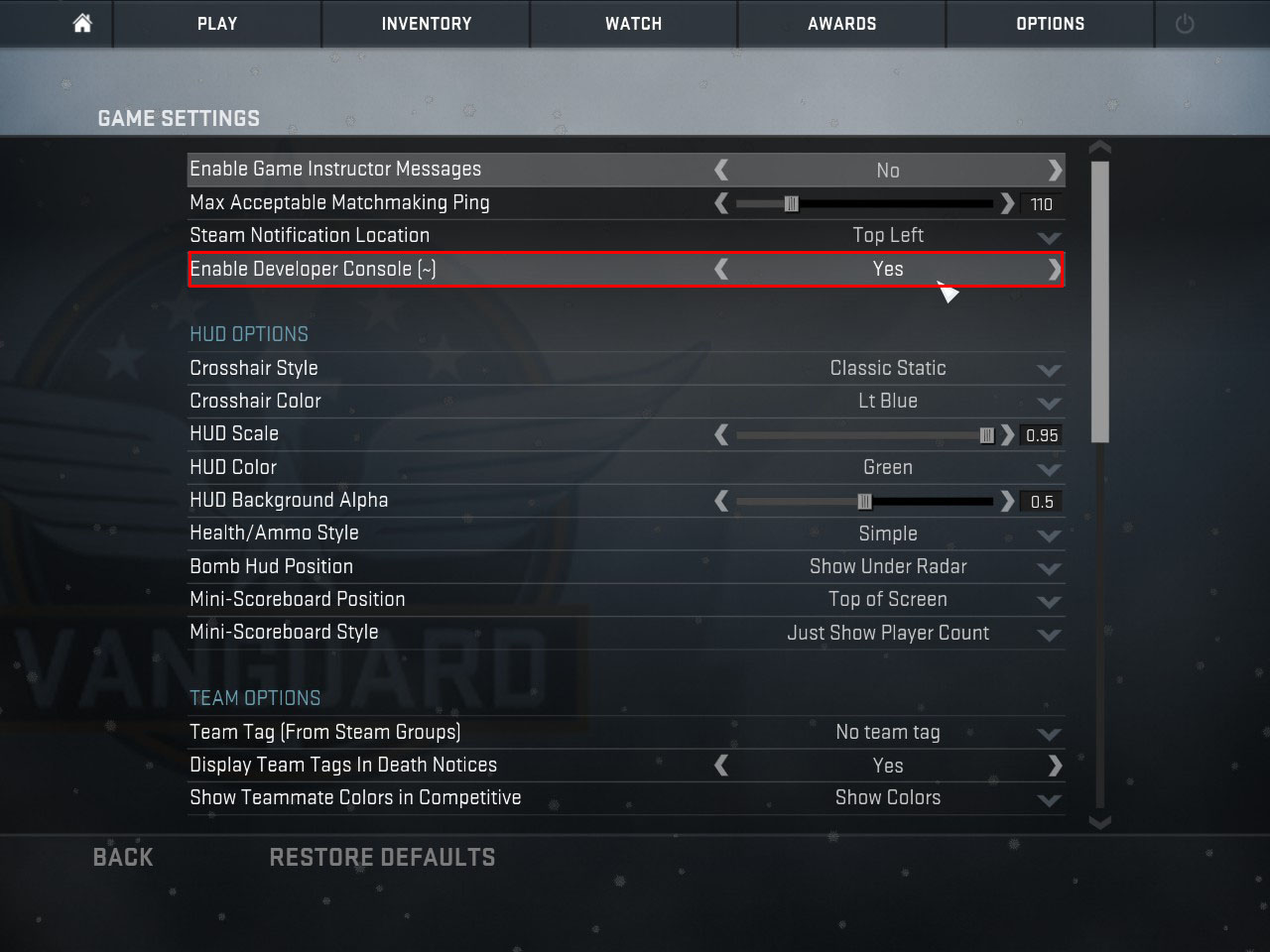 Go To Game Menu And Open Game Settings And Make Sure You Have