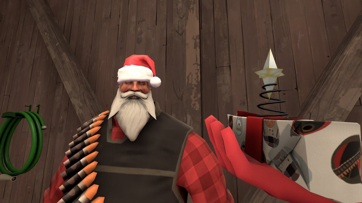 Tf icon iron curtain team fortress 2 gt skins gt heavy weapons guy - This Outfit Consists Of The B M O C Big Man Of Christmas And The All Father Using These 2 Comsetics