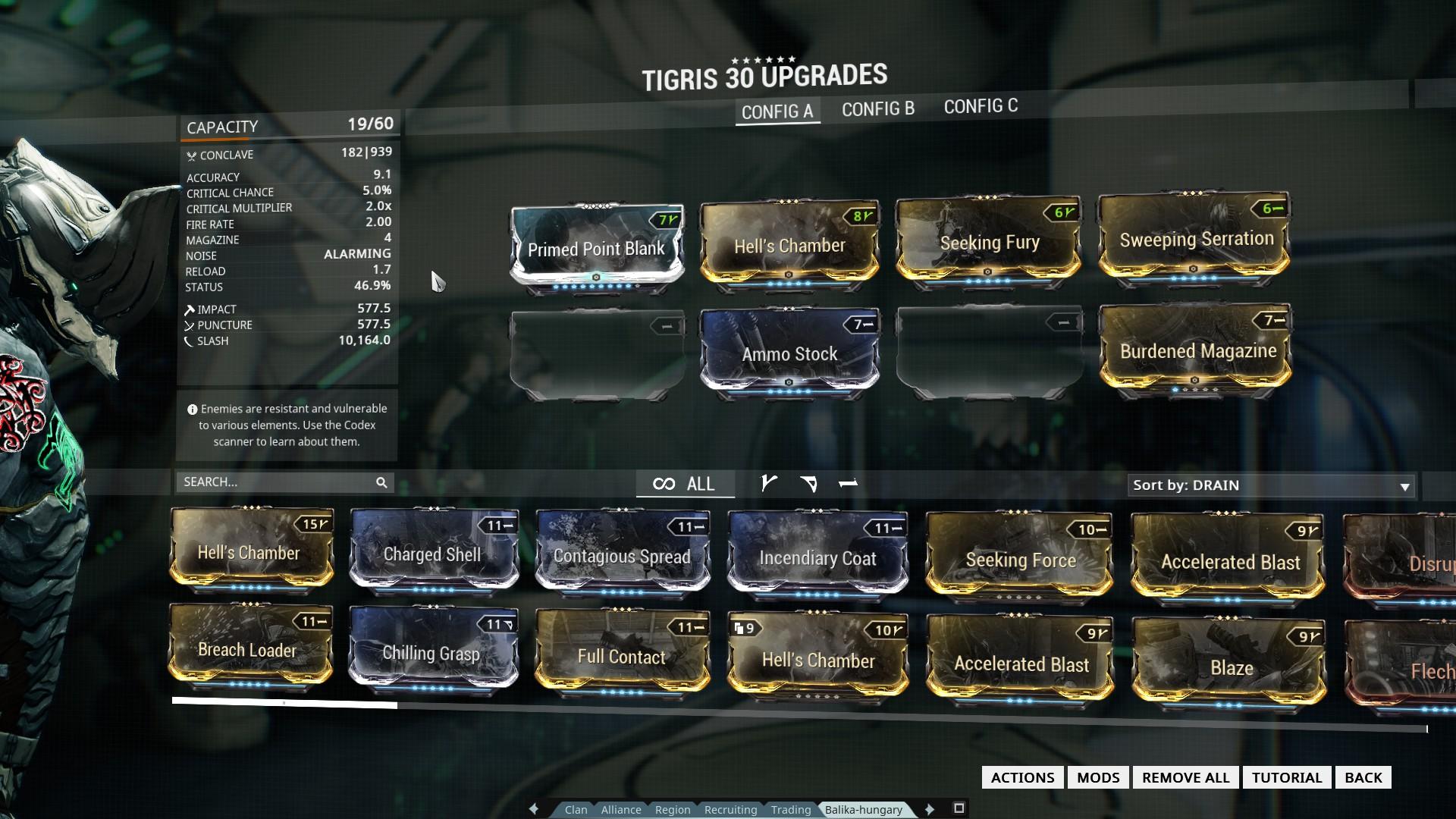 Build Tigris Index Warframe