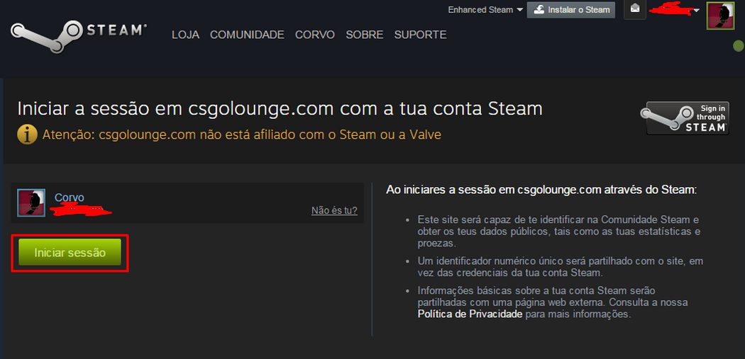 Site de apostas steam cs go