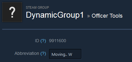 how to change a steam group name