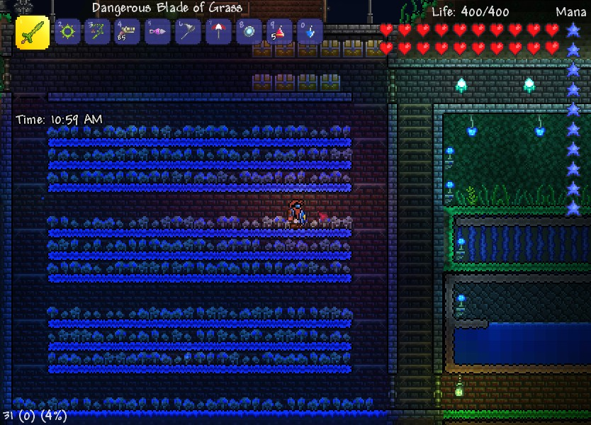 Glowing mushroom terraria farm