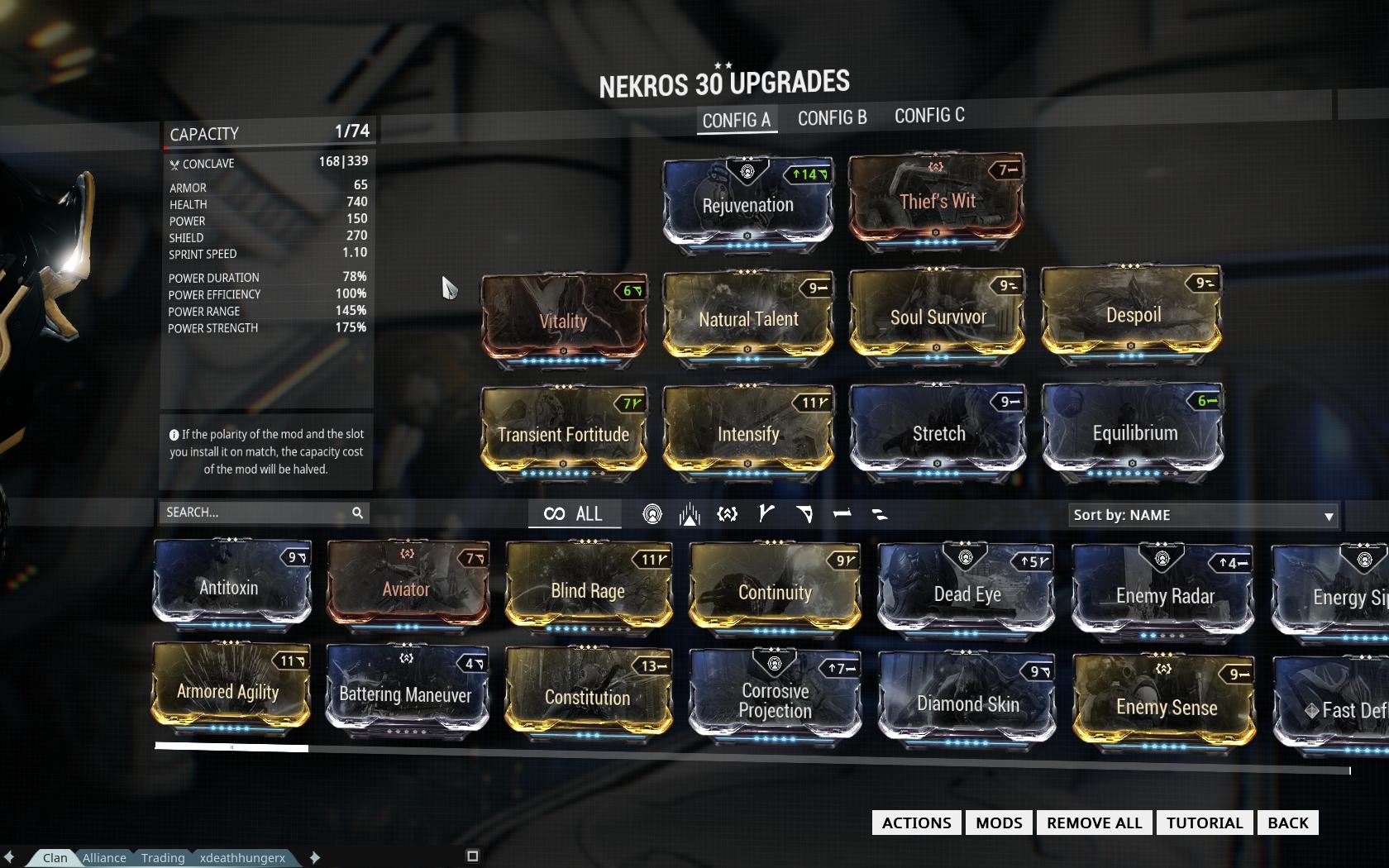 Best Nekros Farming Build Warframe
