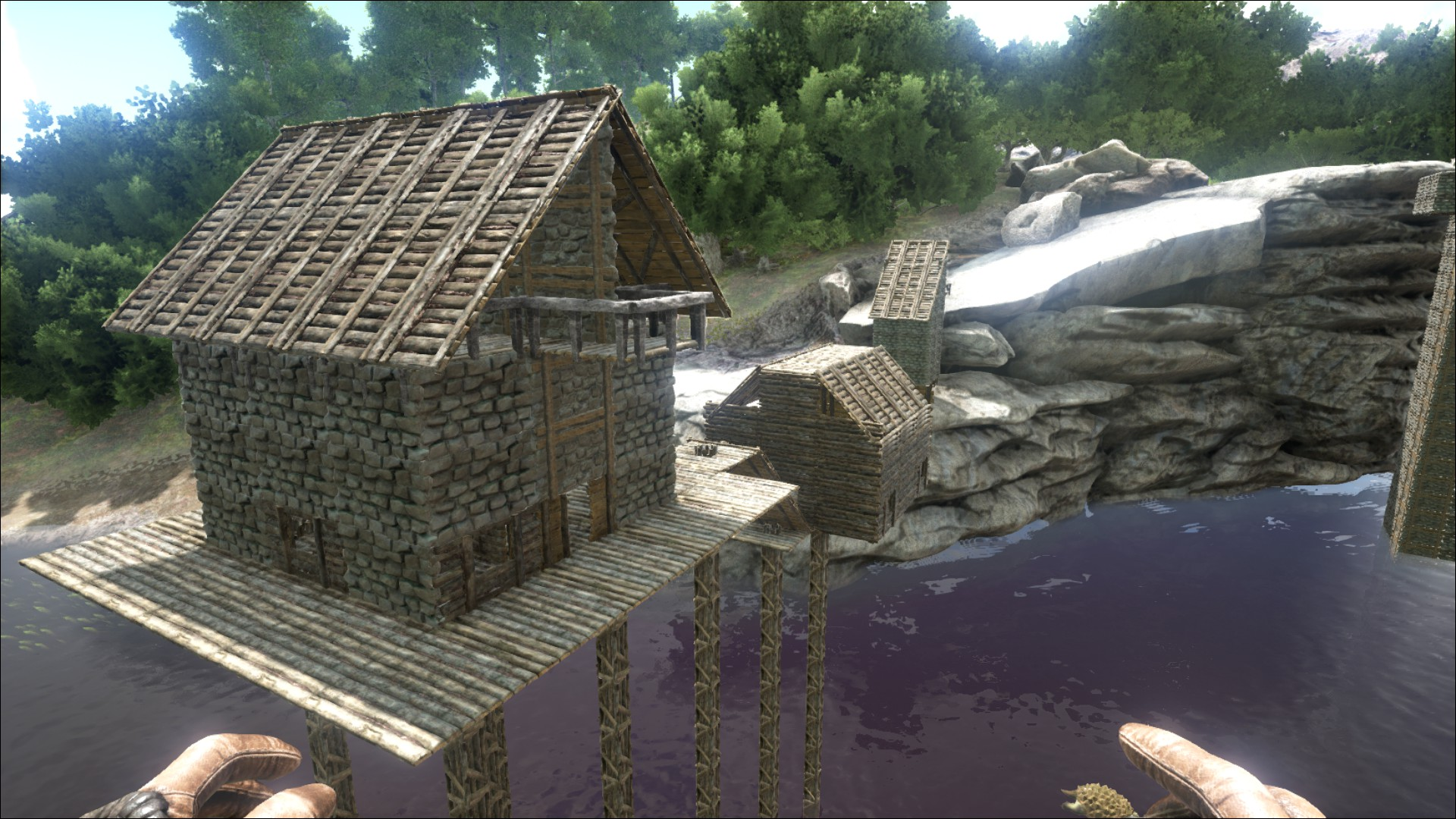 steam community guide creating pitched roofs - Ark Sloped Roof