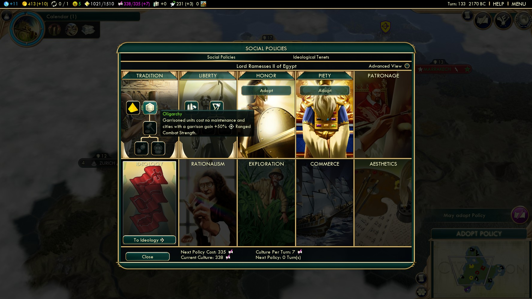 how to get order social policy civ 5