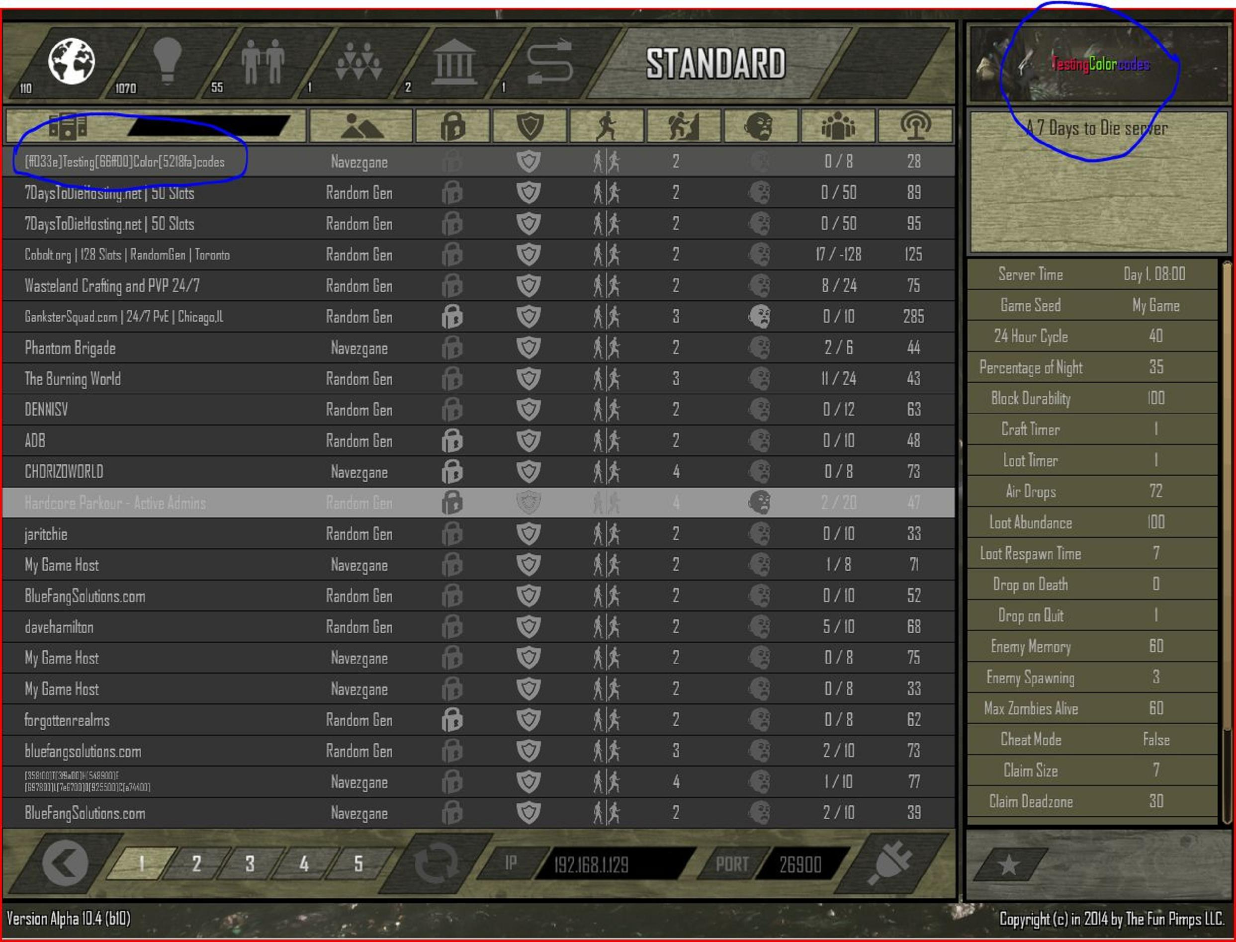 Steam Community :: Guide :: Color Text - In Your 7dtd Game Hosting ...