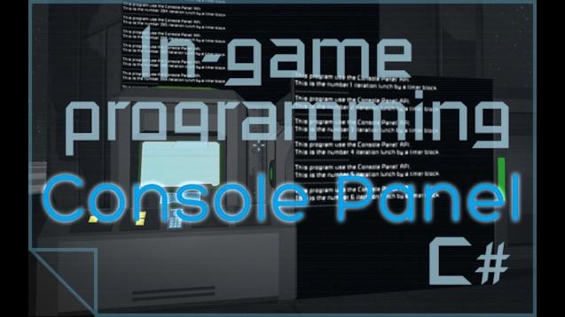 Steam Workshop :: Console Panel [API for programer]