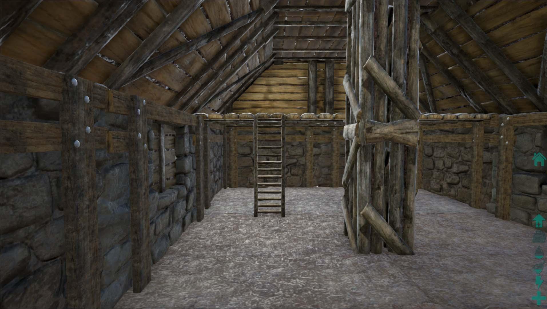 Nun Noch Die Türen Und Fenster Anbringen Und Tadaa... Ein Fertiges Haus Mit  Schrägem Dach.