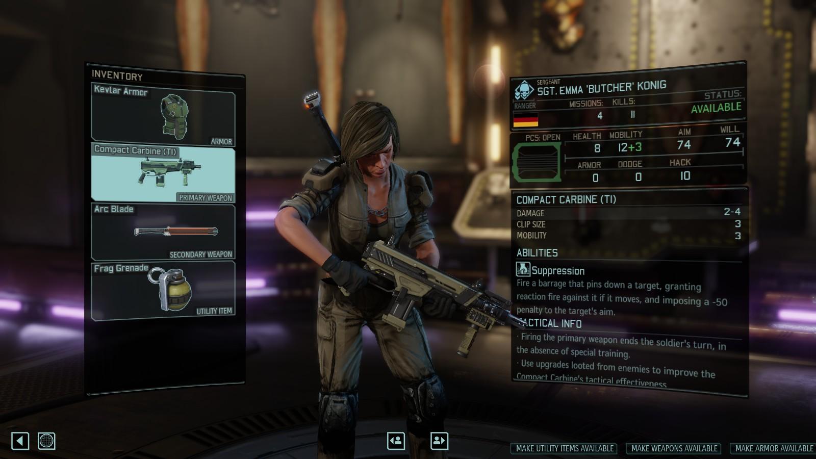 Steam Workshop Suppression Weapons Wotc Vanilla Compatible