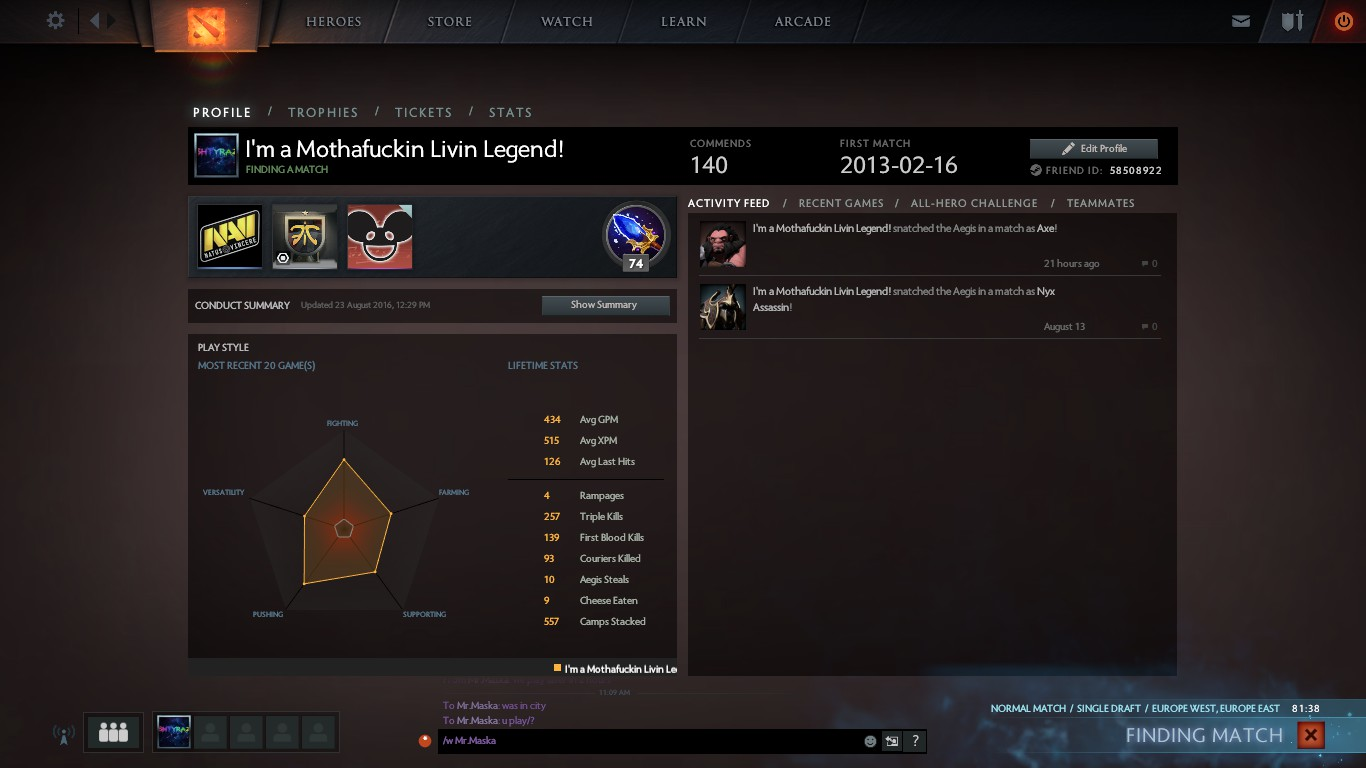 Steam Community :: Screenshot :: When u have 10k mmr and cant find players  for match