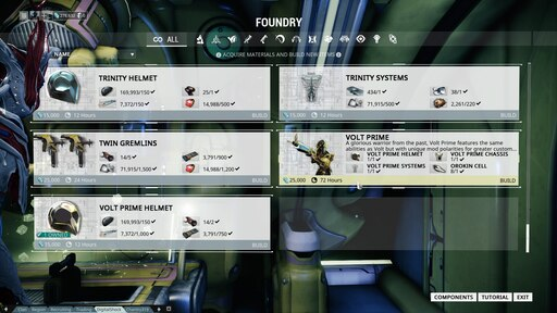 Steam Community Screenshot I Have All The Parts For Volt Prime