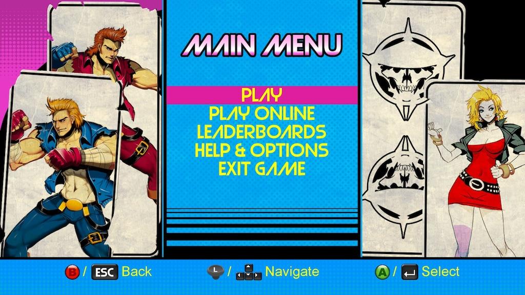 Steam Community Screenshot Double Dragon Neon Menu