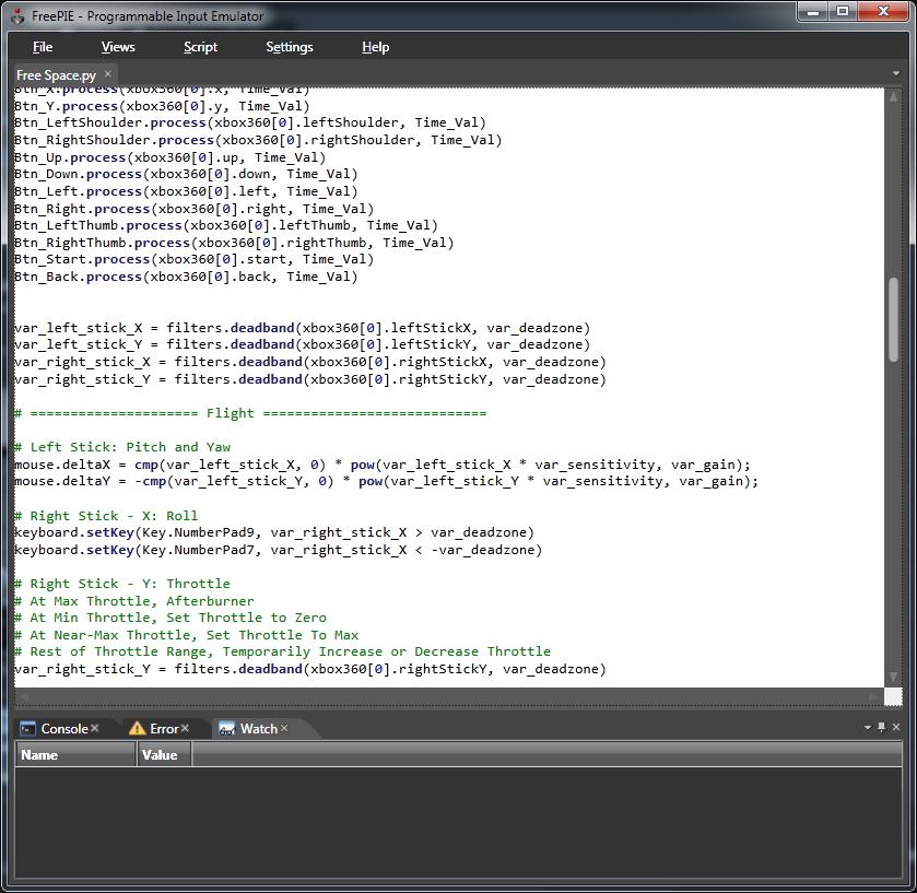 Steam Community :: Guide :: FreePIE XBox360 Controller Script