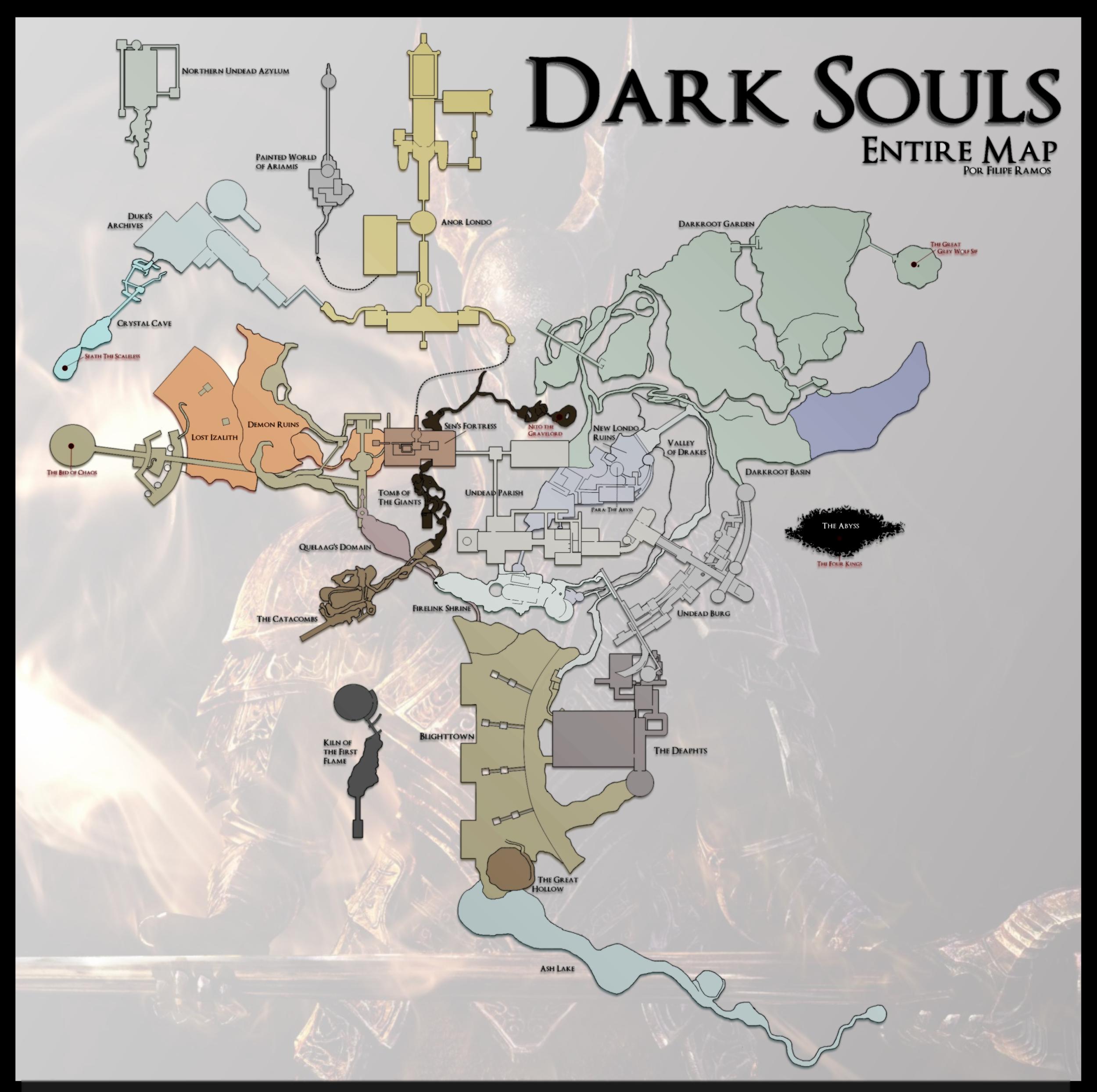 Comunidade Steam :: :: Dark Souls World Map