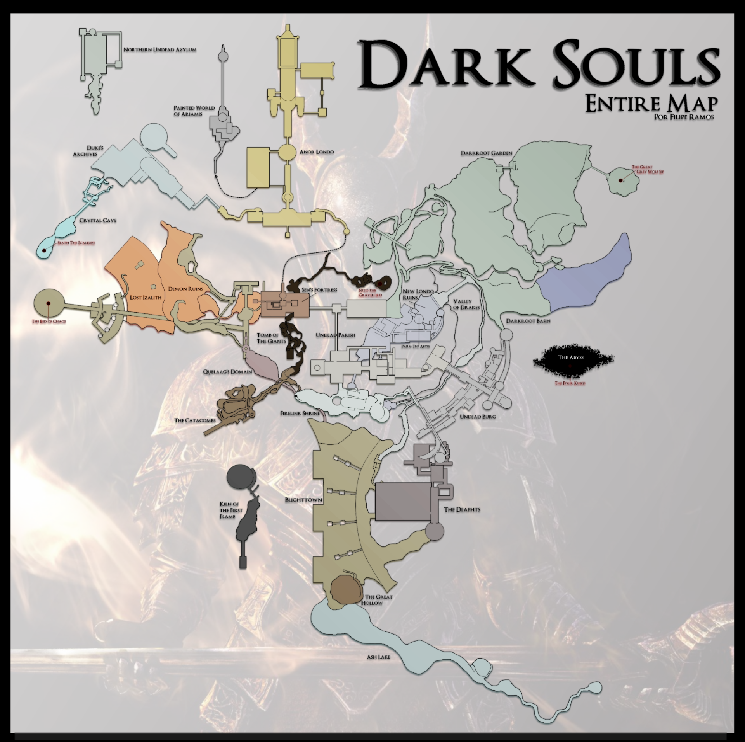 Dark Souls World Map on dark tower map, demon s souls magician build, demon temple map, demon ruins shortcut, demon city map, demon empire map, demon souls map, darkroot garden map,
