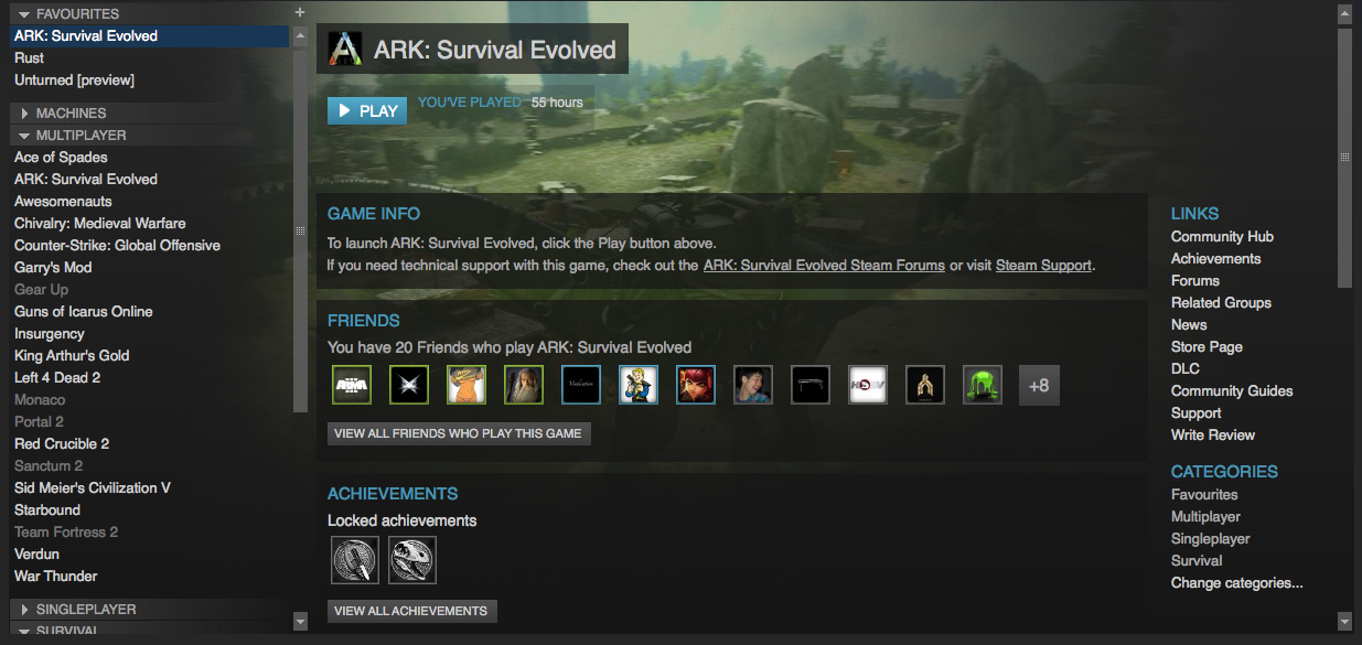 Steam community guide how to play ark on a mac osx with good fps ccuart Gallery