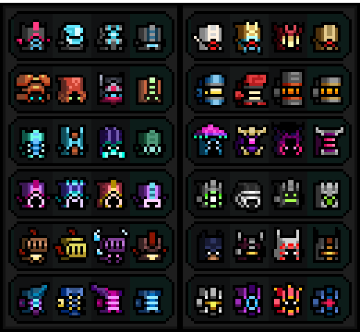 All The Crafting Recipes For Armor In Roguelands
