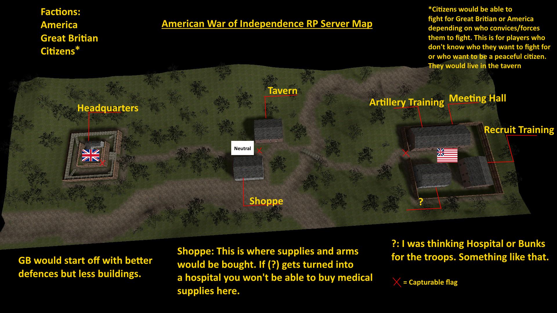 Steam Community American Revolution RP Server MapIdeas - All us steam servers map