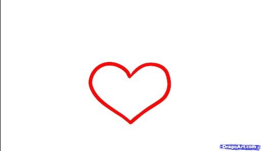 Сердечки картинки срисовать большие и маленькие