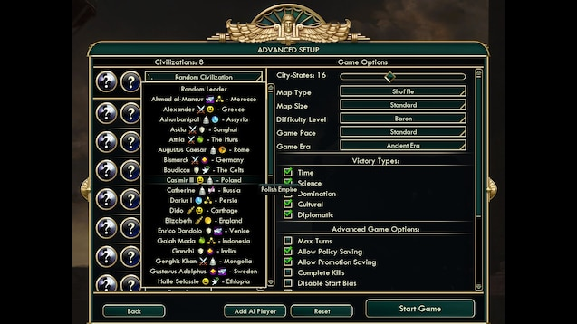 Steam Workshop :: Civ IV Leader Traits in Civ V