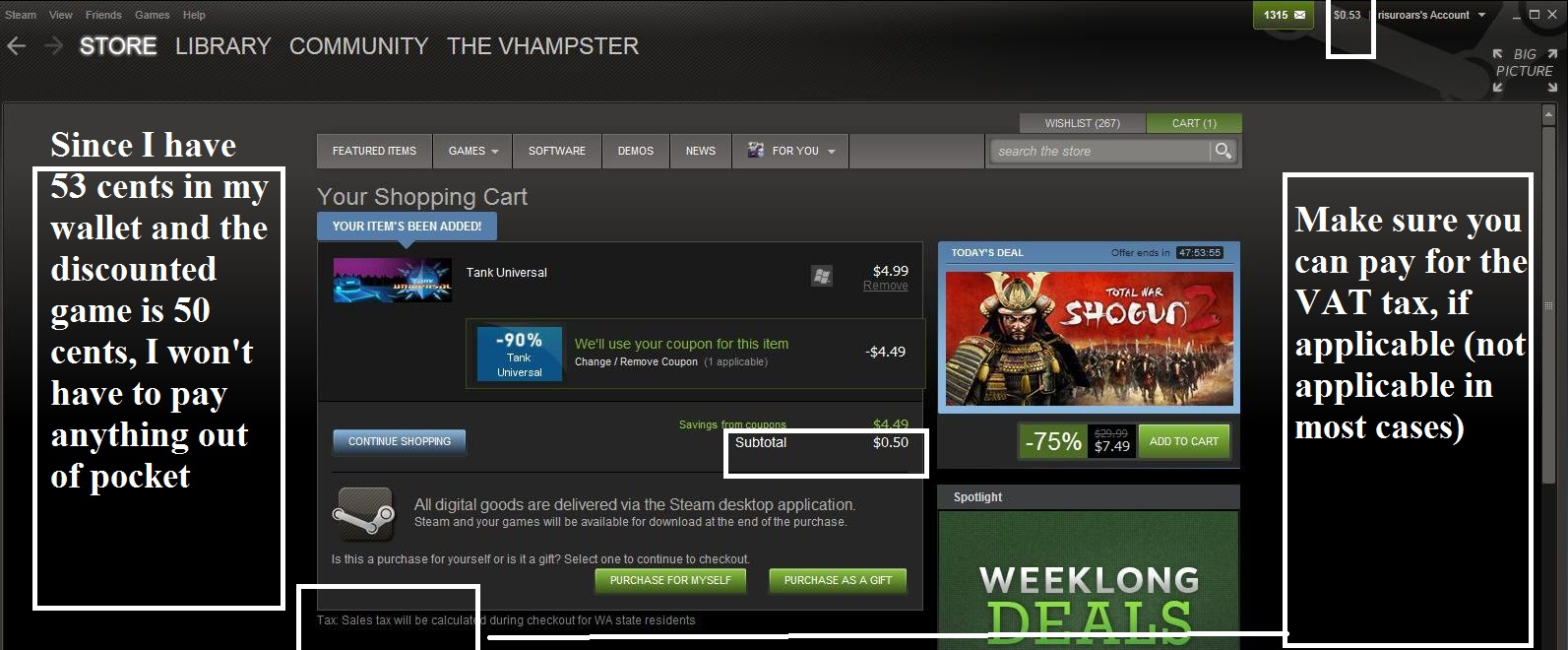 Steam discount coupons universal