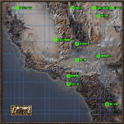Fallout 1 World Map Steam Workshop::Fallout 1   World Map