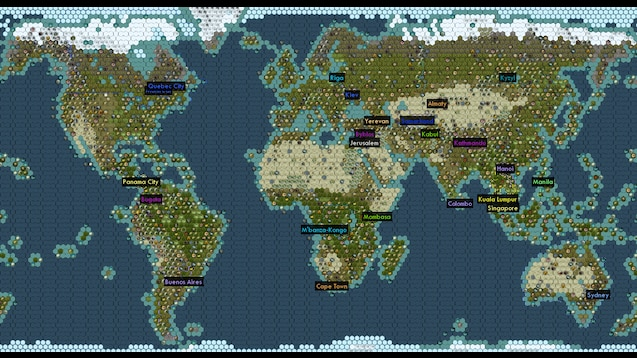 Brave New World Map Steam Workshop::NearPerfectEarth for Brave New World Expansion
