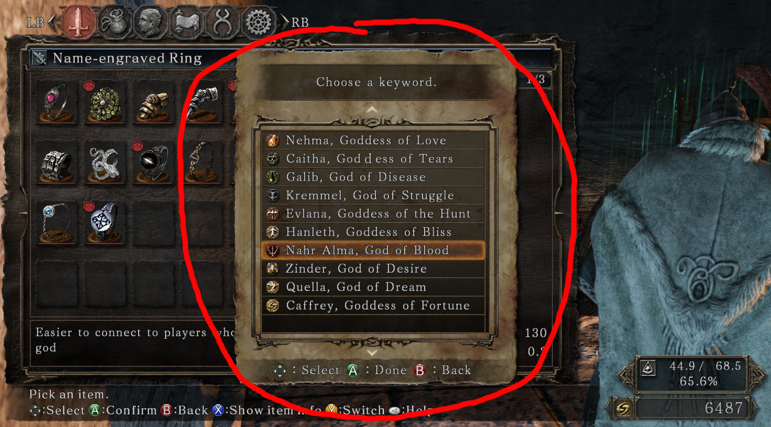 Dark Souls  Name Engraved Ring Which God