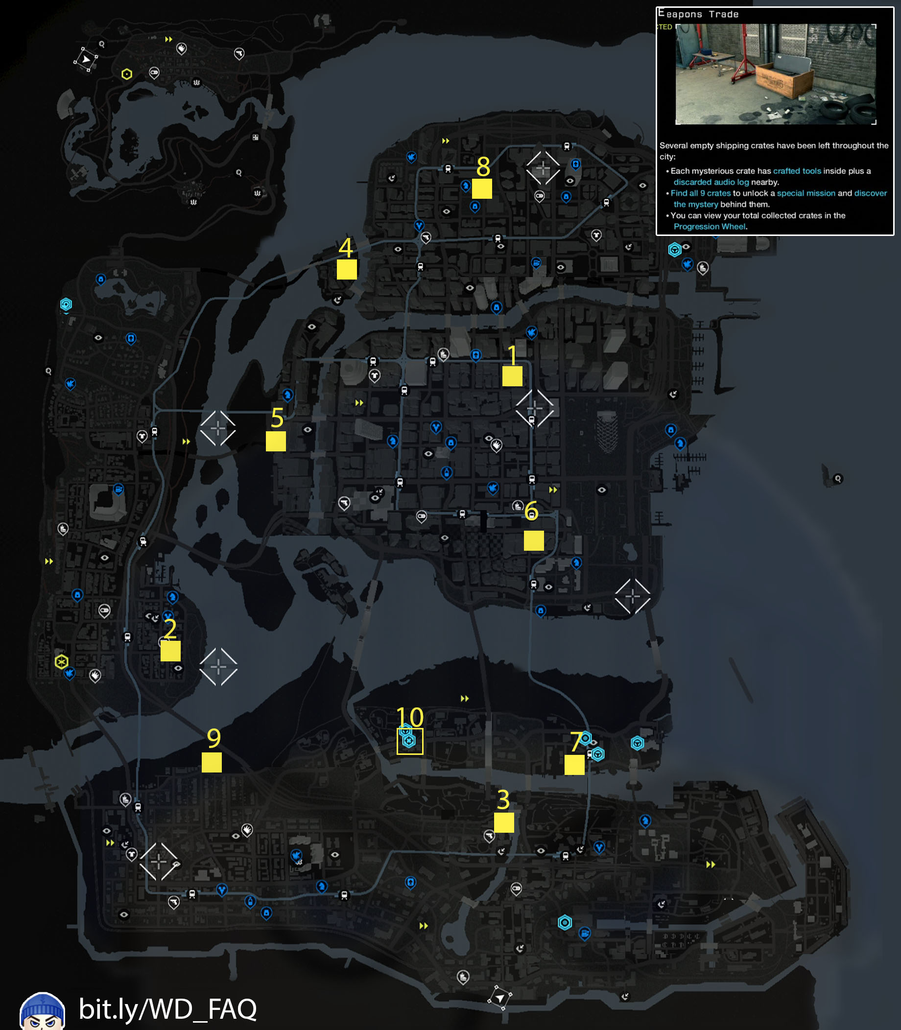 Weapons Trade Watch Dogs Map