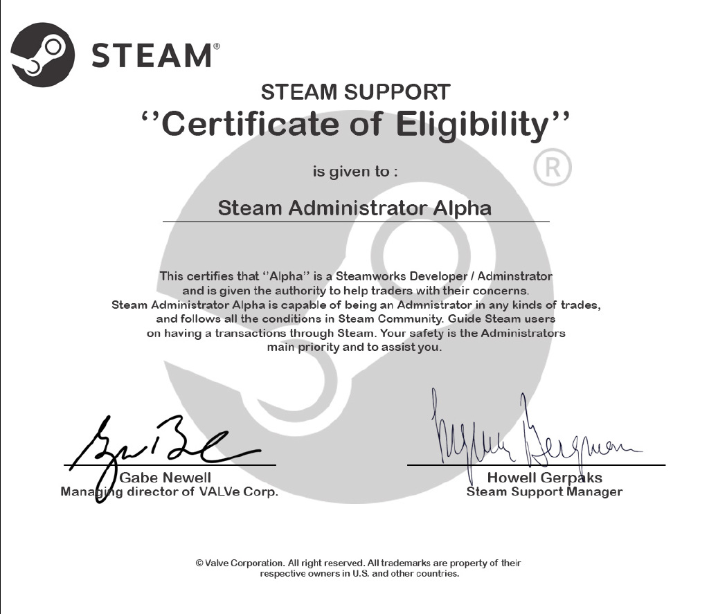 Steam community certificate of eligibility 1betcityfo Image collections