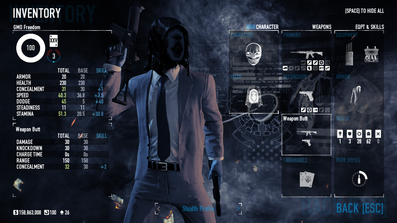 Payday 2 Best Stealth Build 2019 Steam Community :: Guide :: No DLC Stealth Build