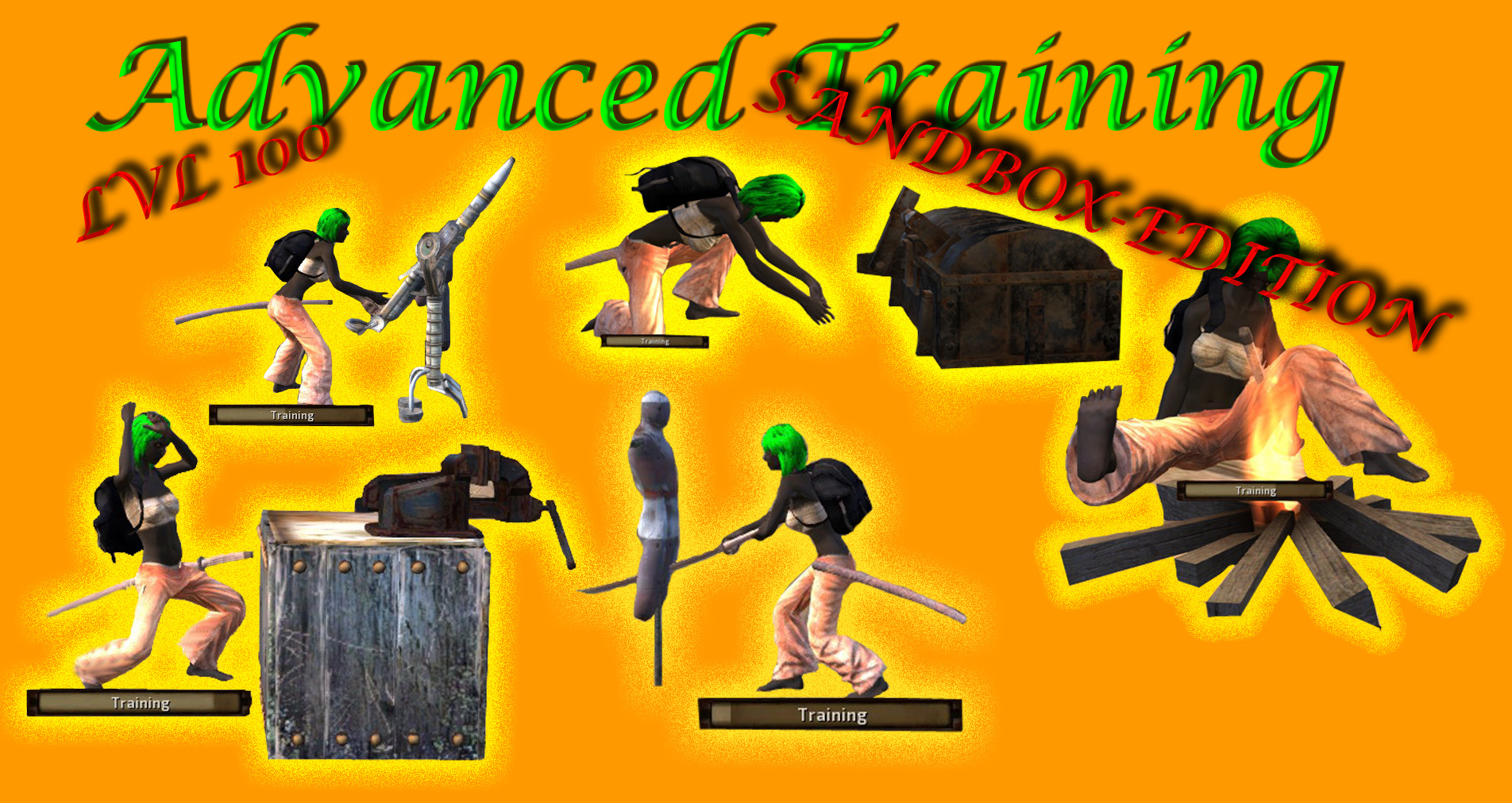 Sandbox Adv. Training mod (lvl 100)