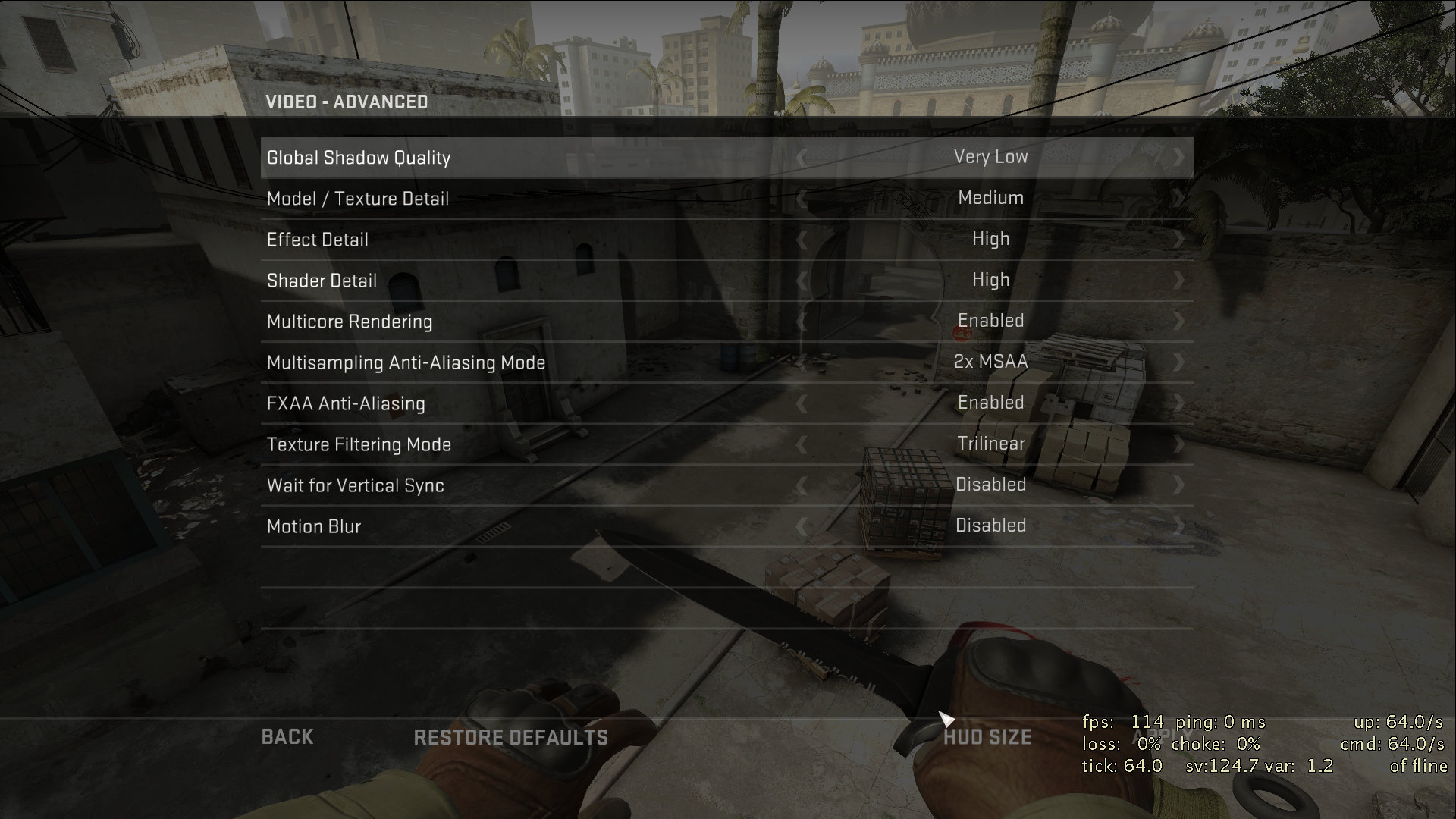 best cs go video settings for mac
