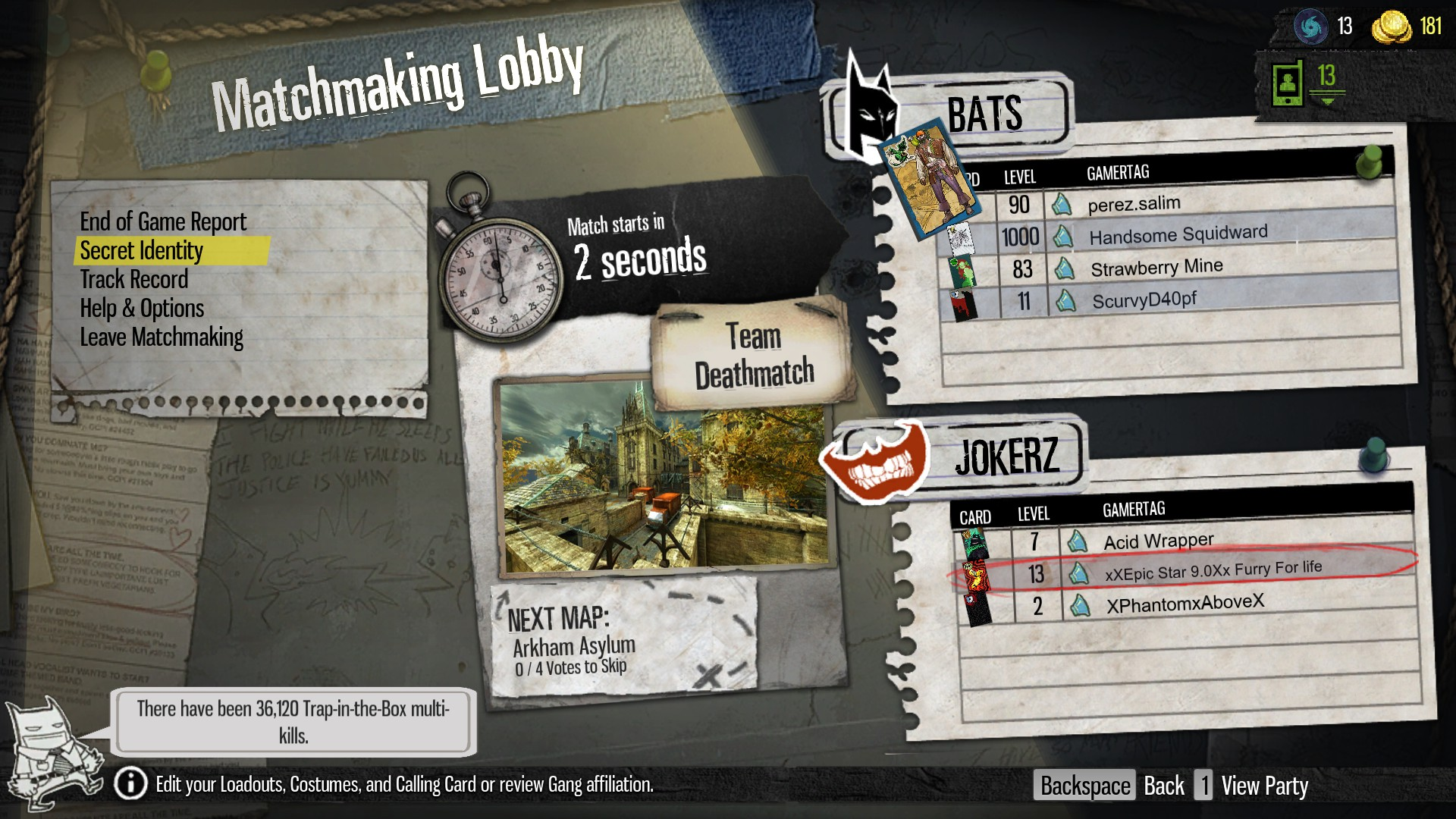 REBEKAH: Gotham city impostors matchmaking takes forever