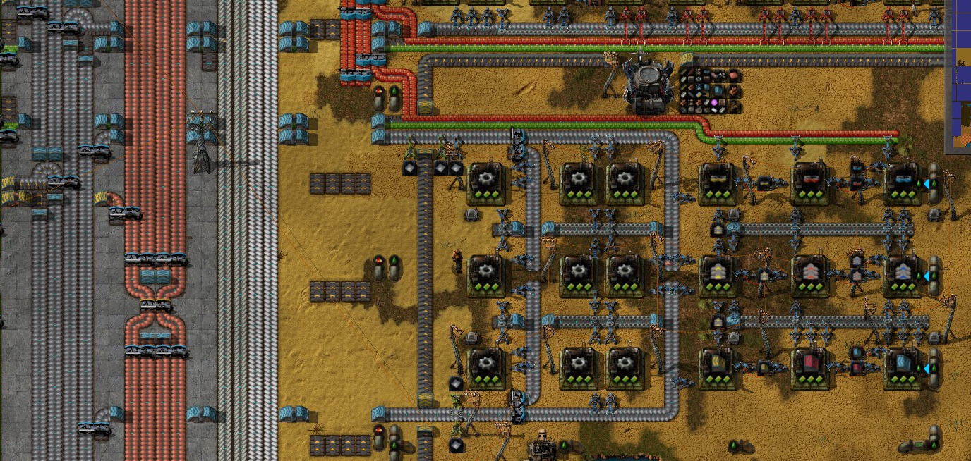 Steam Community Guide Factorio How To Build A Main Bus Electric Circuit Game Make Sure Leave Room For Lubricant Pipe Feed The Blue Belt Assemblers