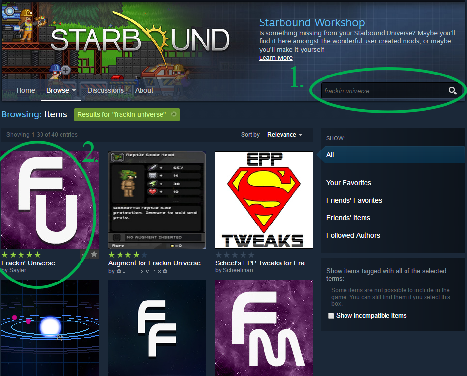 Steam Community :: Guide :: Frackin Universe: Dedicated