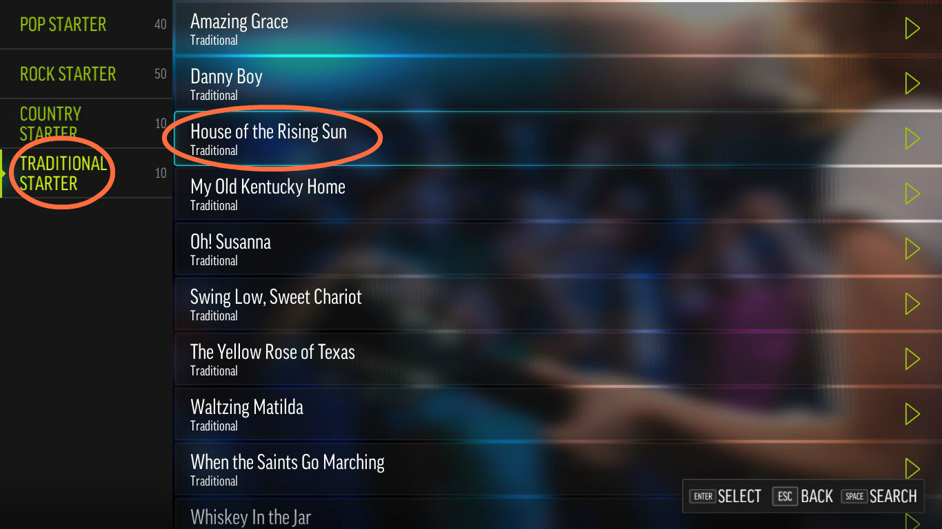 Steam community guide step by step guide for your first using house of the rising sun as our example song you can find it under traditional song category scroll down the list alphabetically ordered by hexwebz Image collections
