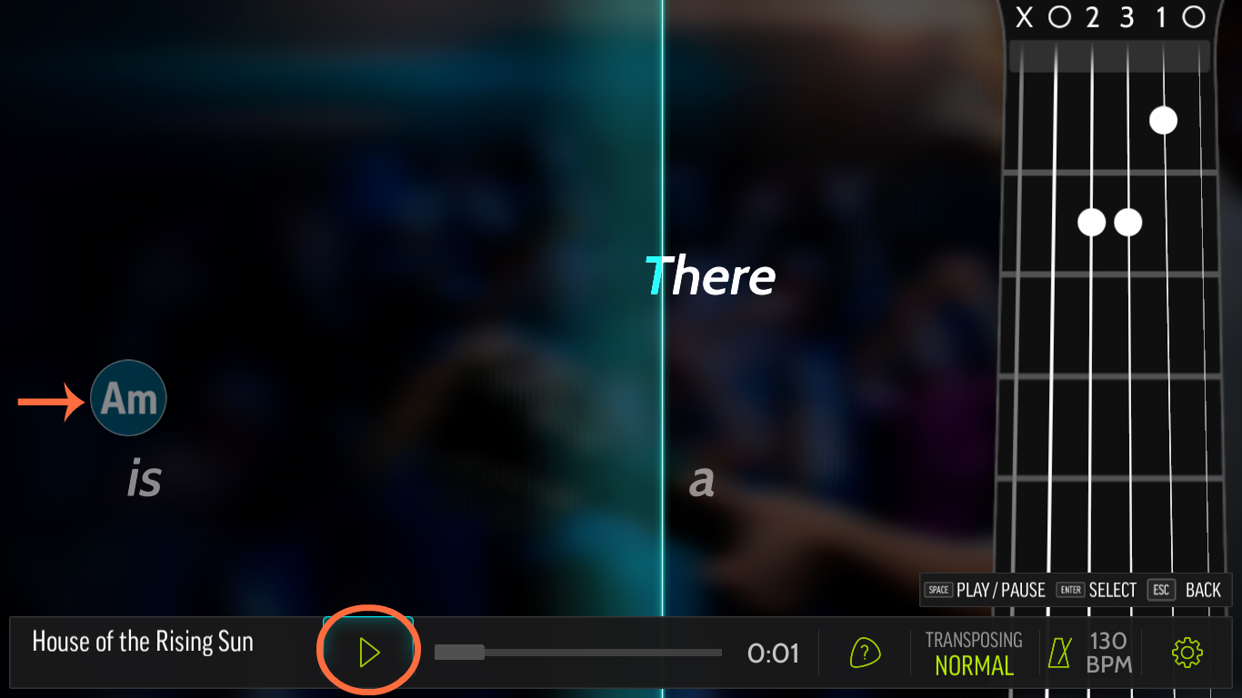 Steam community guide step by step guide for your first on this first playing round your only goal should be to strum down with a pick or right hand fingers the a minor open chord whenever the playback cursor hexwebz Image collections