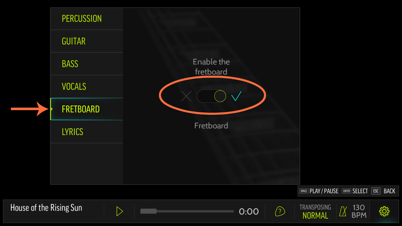 Steam community guide step by step guide for your first not you can turn it on by going to settings in the lower right hand corner fretboard enable the fretboard and it will appear on the right hand hexwebz Image collections