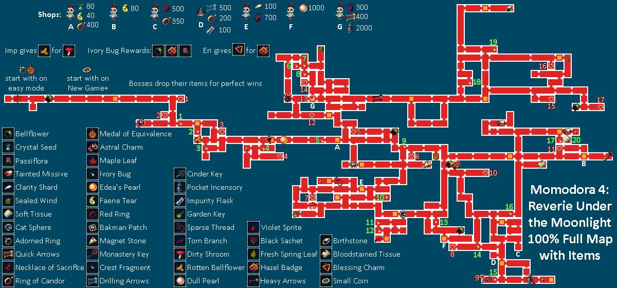 Steam community guide momodora rutm 100 full map for Floor 4 mini boss map