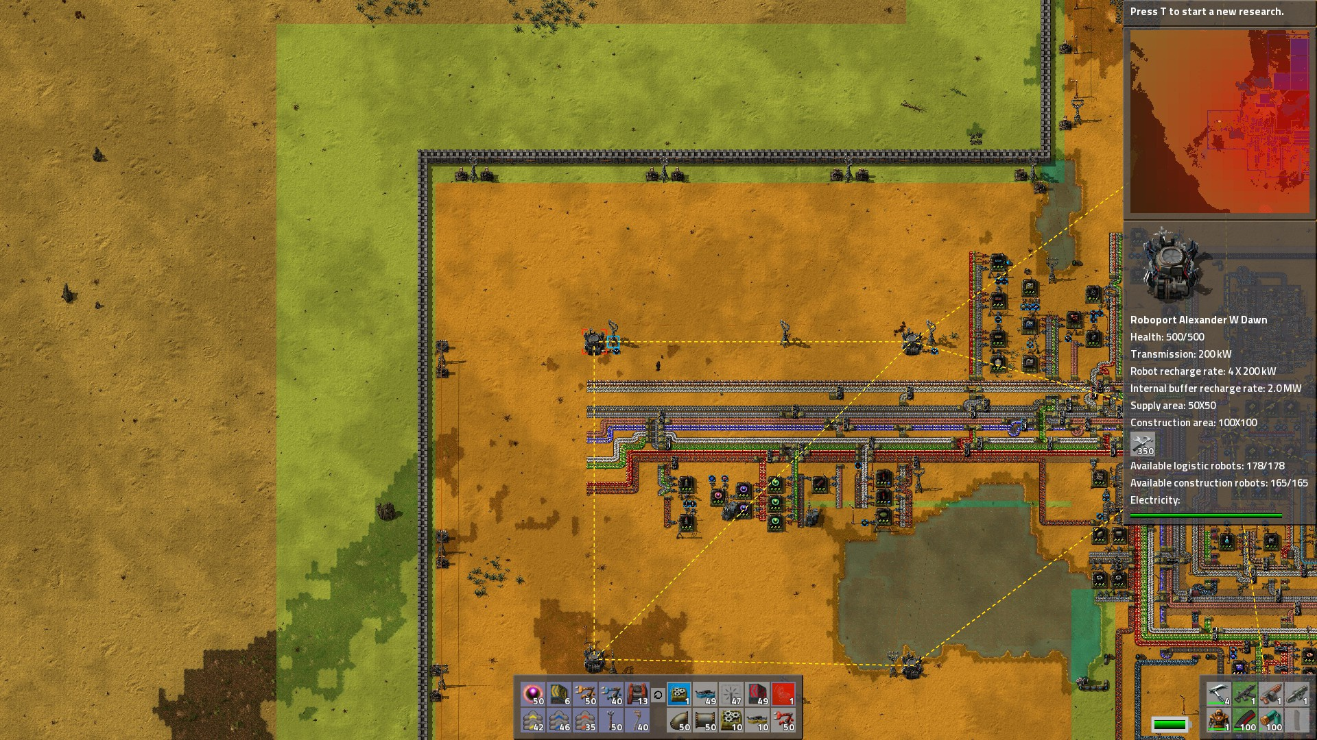 Steam Community Guide Factorio Observations Tips Tricks Circuit Well Also Go Over A Few And To Watch Out For Your Bots Can Construct Repair Items Within This Coverage Area Note Always Keep Outer Walls The Green Zone