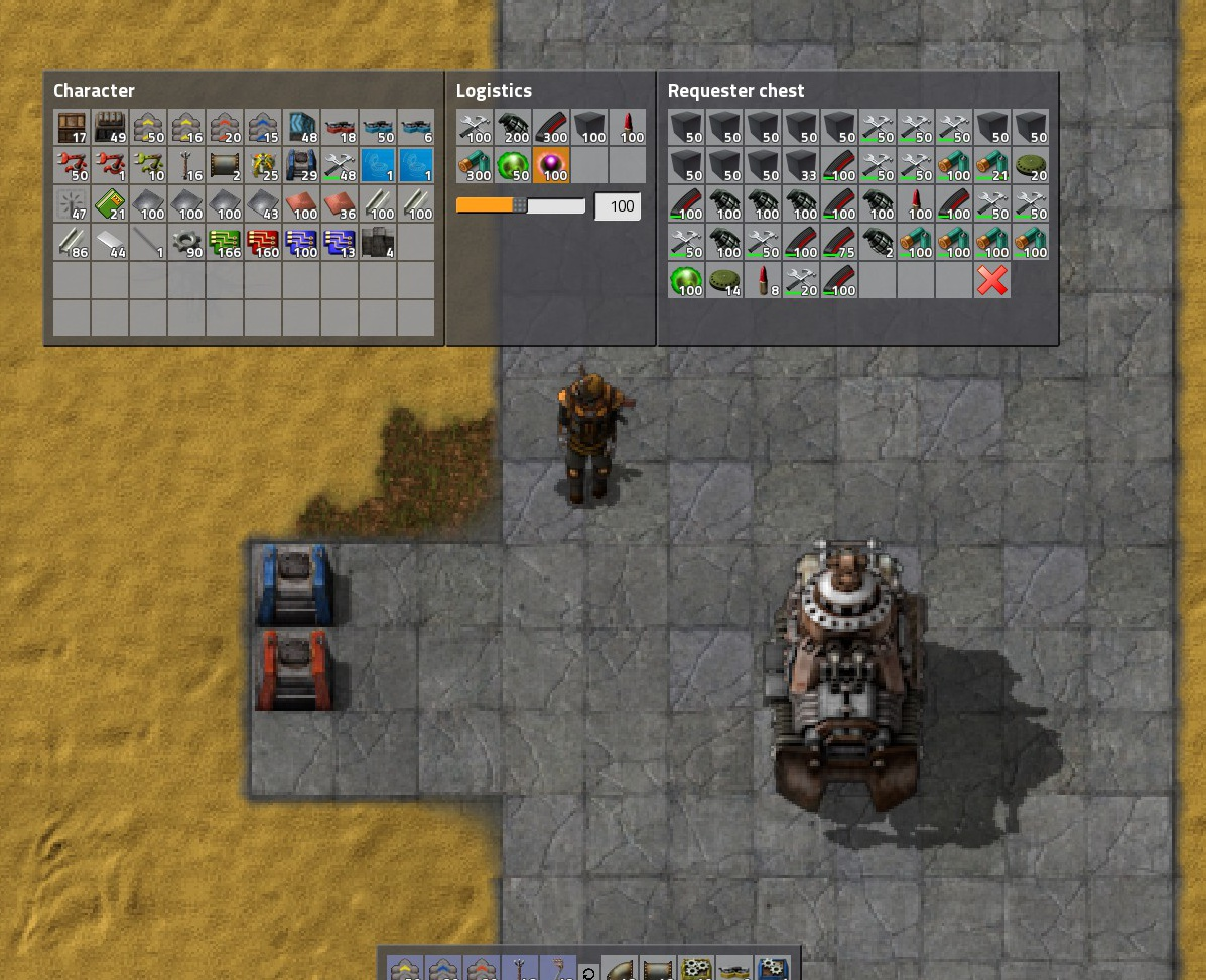 Steam Community Guide Factorio Observations Tips Tricks Snap Circuits Space Battle Kit A Better Option Is To Have Requester Chest In Your Parking Lot That Requests Ammo Repair Kits Capsules Rail Supplies Etc And You Transfer Stacks