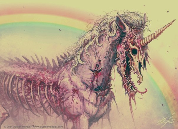 Image result for dead unicorn drawing