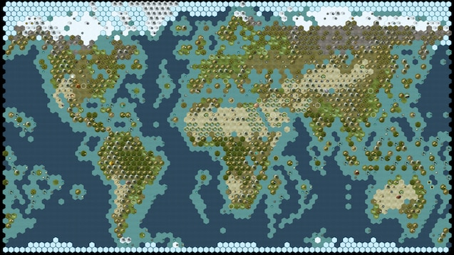 Civ 5 Earth Map Steam Workshop::Alej's Maps of the World (Earth Maps and Continents)