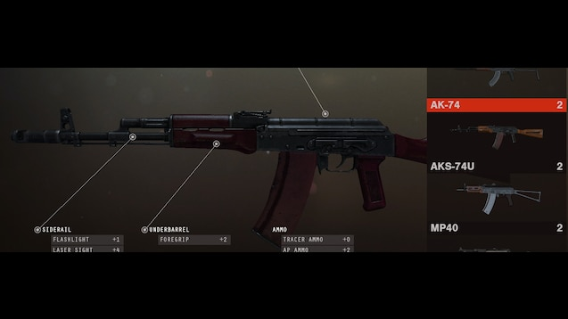 Steam Workshop :: AK 74 Red Russian Full Kit(Wood parts/Grip