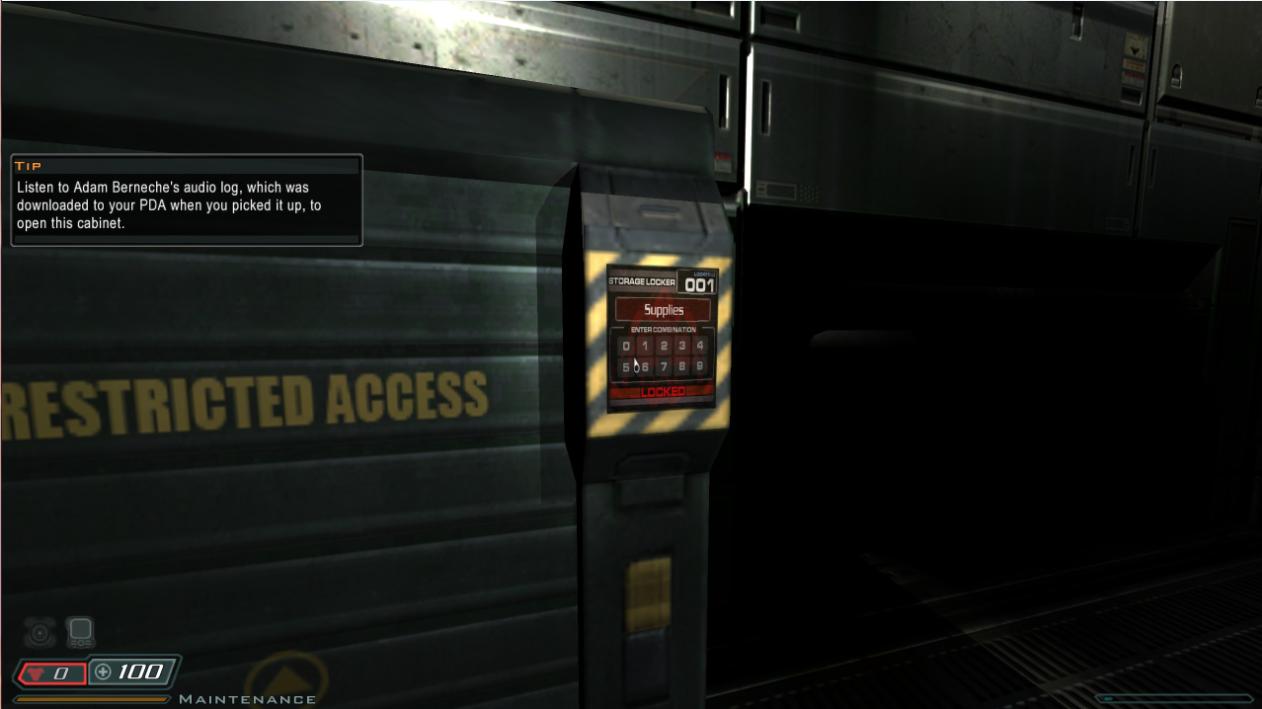 Locker 001 Code 396