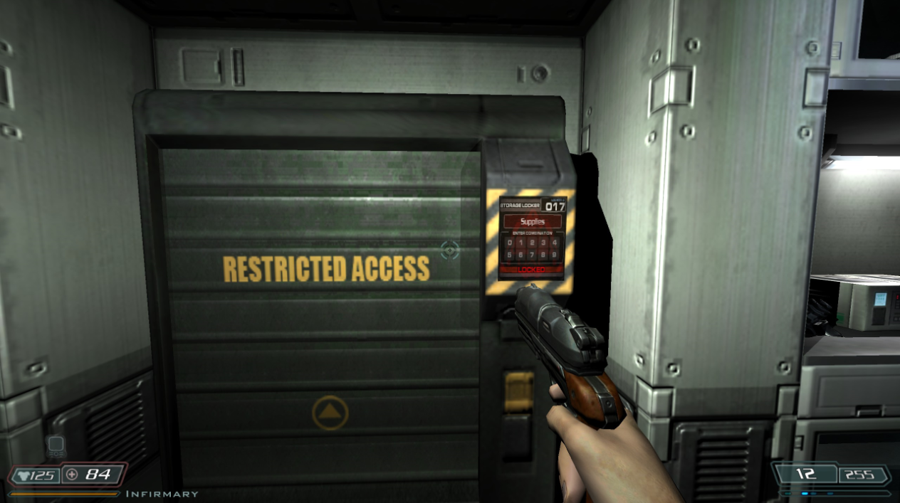 Also Here Is This Terminal Which Unlocks The Door To Decontamination Chamber