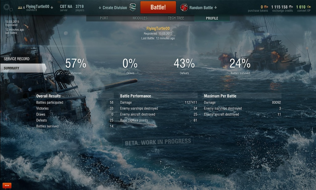 Steam Community :: Screenshot :: My WoWs stats 57% win rate