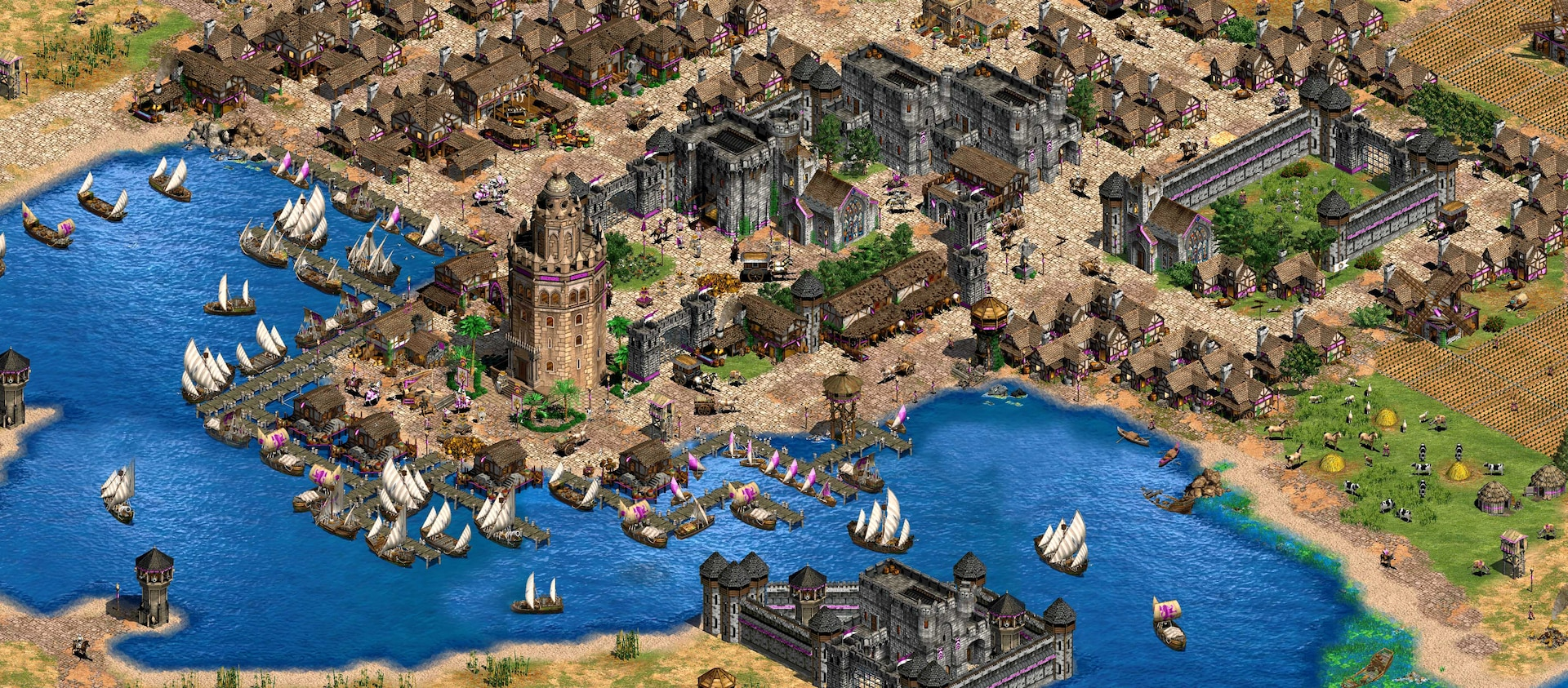 Age of Empires 2 Stadt
